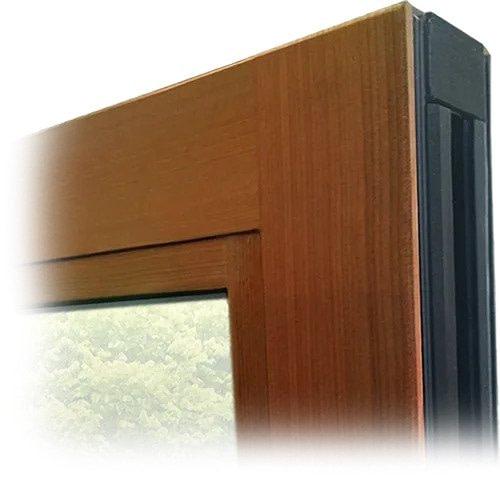 aluminum folding patio doors | real wood interior | Aluminum