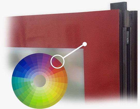 aluminum folding patio doors | red corner with colorwheel | Aluminum