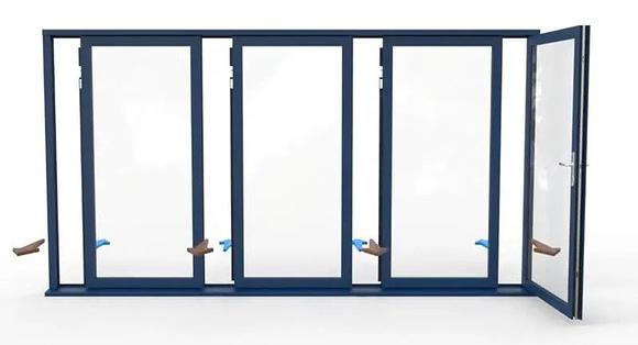 aluminum folding patio doors | Individual panels | Aluminum